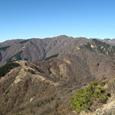三ノ塔から見た表尾根の稜線