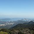 朝熊ヶ岳から望む伊勢湾