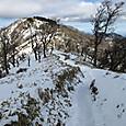 丹沢主脈コース日高のピークから竜ヶ馬場を見る